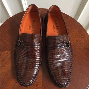 Mezlan genuine brown lizard bit men's shoe